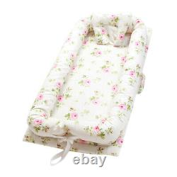 1x Baby Bassinet Floral Baby Lounger Bed Bassinet For Newborn Baby Portable Crib