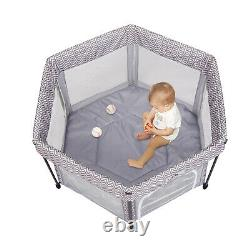 2in1 Portable Baby Bassinet Folding Playard for Boys Girls Indoor/Outdooor Use