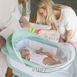 3 in 1 Baby Bedside Bassinet for New Born, Arms Reach Side-Sleeper for Infants