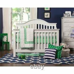 3 in 1 Convertible Crib Set with Matching Changing Table Dresser in White