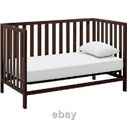 4 IN 1 CONVERTIBLE TODDLER CHILD BABY Nursery Crib Full Size Bed Daybed Espresso