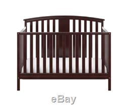 4 in 1 Convertible Wooden Crib Baby Toddler Bed and Mattress Set Bedroom Infant