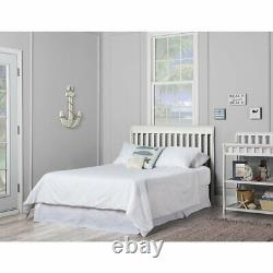 5-in-1 Convertible Baby Bed Full Size Crib Black Nursery Bedroom Furniture White
