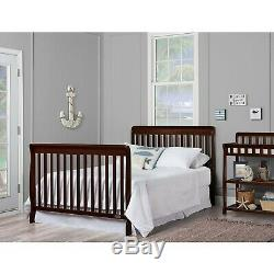 5-in-1 Convertible Baby Bed Full Size Crib Nursery Bedroom Furniture Espresso