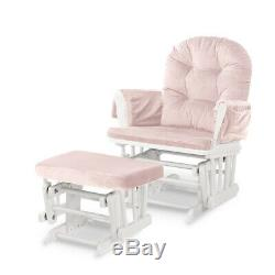 5pcs Glider Rocking Chair & Ottoman Baby Nursery Replacement Cushions Velvet