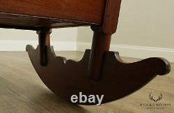 Antique Early 19th Century Walnut Baby Cradle