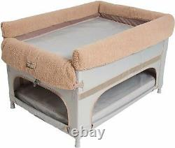 Arm's Reach Large Duplex Pet Bunk Bed with Pillow Cover & Camel Liner Grey