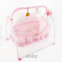 Automatic Electric Baby Crib Cradle Baby Swing Rocking Cot Sleep Bed+ Bluetooth