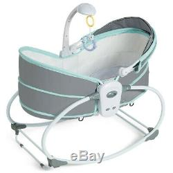 Baby Bassinet Crib Newborn Rocking Sleeper Travel Portable Bed With Toys Canopy