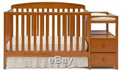 Baby Bed Crib Convertible 4 In 1 Nursery Infant Toddler Adjustable Table New
