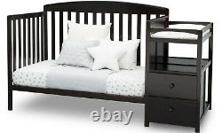 Baby Crib 4 In 1 Convertible Bed Toddler Adjustable Nursery Wood Furniture New