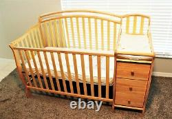 Baby Crib 5 in 1 With Changing Table And Mattress LOCAL PICKUP ONLY