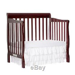 Baby Crib Dream On Me 4 in 1 Convertible Nursery Furniture Crib Day Bed Cherry