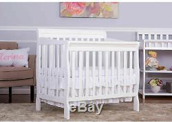 Baby Crib Dream On Me 4 in 1 Convertible Nursery Furniture Crib Day Bed White