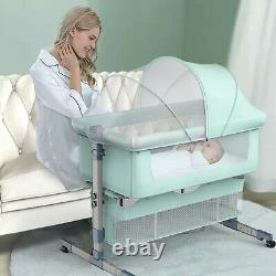 Baby Crib Foldable Bassinets Bedside Sleeper For Babies with a Pair of Cute Sock