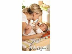 Baby Diaper Changing Table with Mattress Foldable Beech Color Practical New