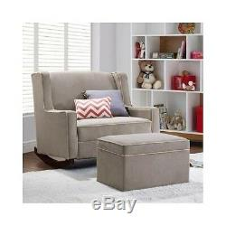 Baby Double Rocking Chair Nursery Furniture Wide Infant/Mom Fabric Rocker Glider