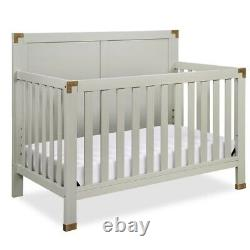 Baby Relax Miles 5-in-1 Convertible Crib in Graphite Grey