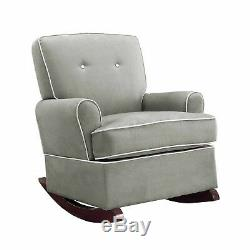 Baby Relax Nursery Tinsley Rocker Infant Chair Soft Rocking Gliders Seat Gray