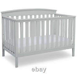 Baby crib toddler bed Convertible 4 in 1 adjustable height daybed white wood now