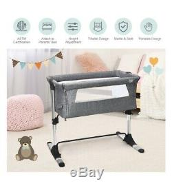 Baby Joy Portable Baby Bed Side Sleeper Infant Travel ...
