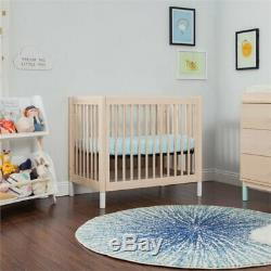 Babyletto Gelato 2-in-1 Mini Crib in Washed Natural with White Feet