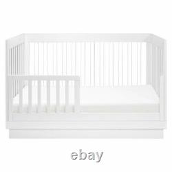 Babyletto Harlow 3-in-1 Convertible Crib with Toddler Bed Conversion Kit White