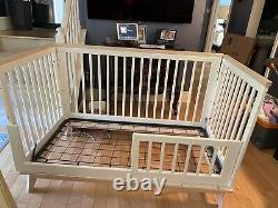 Babyletto Hudson 3-in-1 Convertible Crib With Toddler Rail -and Mattress