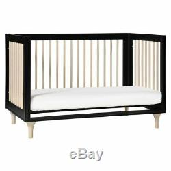 Babyletto Lolly 3-in-1 Convertible Crib with Toddler Bed Conversion Kit in Black