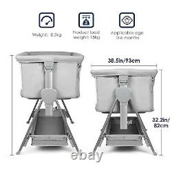 Bassinet for Babies Lightweight and Mobile with Storage Basket Bedside Sleepers