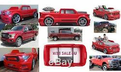 Bed Twin Car Kids Bedroom Toddler Furniture Truck JEEP with Lights Boys Red USA