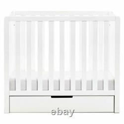 Carter's Colby 4-in-1 Convertible Mini Crib with Trundle in White