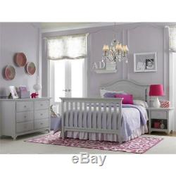 Catania 5-in-1 Convertible Baby Crib in Misty Gray