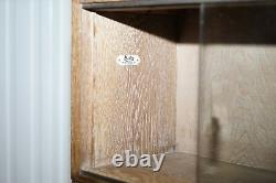 Circa 1930's Limed Oak Modular Minty Oxford Antique Stacking Legal Bookcase
