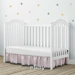 Convertible Baby Crib to Daybed Nursery Sleeping Bed New Born Bed Modern Wood