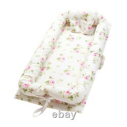 Cute Baby Nest Bed Floral Baby Lounger Co-Sleeping Newborn/ Infant Bassinet Crib