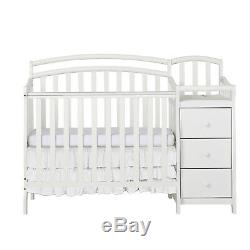 Dream On Me Casco 4-in-1 Mini Crib and Changing Table White