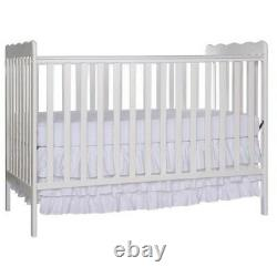 Dream On Me Classic 3-in-1 Convertible Crib in White