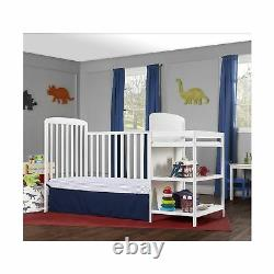 Dream On Me Convertible Crib Full Size Changing Table Non Toxic White 678W New