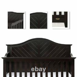 Dream On Me Ella 5 in 1 Convertible Crib in Charcoal