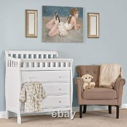 Dream On Me Marcus Changing Table and Dresser in White