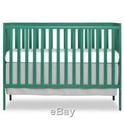Dream On Me Synergy 5-in-1 Convertible Crib, Emerald Distressed Pkg