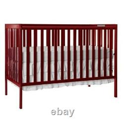 Dream On Me Synergy 5-in-1 Convertible Crib in Cherry