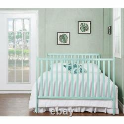 Dream On Me Synergy 5-in-1 Convertible Crib in Mint