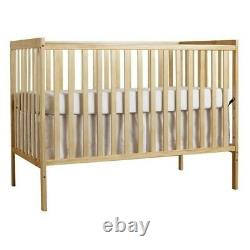Dream On Me Synergy 5-in-1 Convertible Crib in Natural