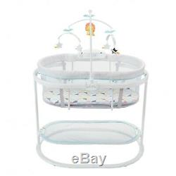 Fisher-Price Soothing Motions Baby Bassinet with Dual-Mode Lighting and Mobile