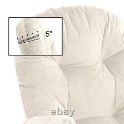 Glider Rocking Chair Replacement Cushions Velvet Washable for Chairs & Ottoman