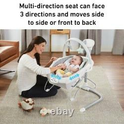 Graco Soothe'n Sway LX Adjustable Swing Seat with Portable Baby Bouncer Derby