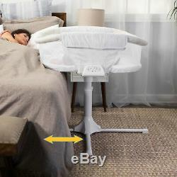 HALO Bassinest Twin Sleeper Double Bassinet Infant Baby Crib in Sand Circle