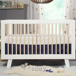 Hudson 3-in-1 Convertible Crib with Toddler Bed Conversion Kit White/Natural